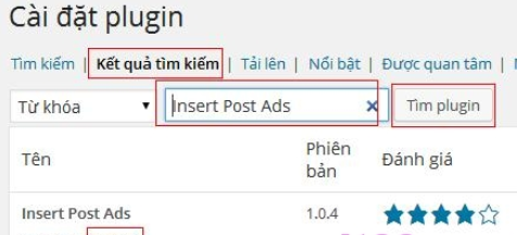 Plugin Insert Post Ads