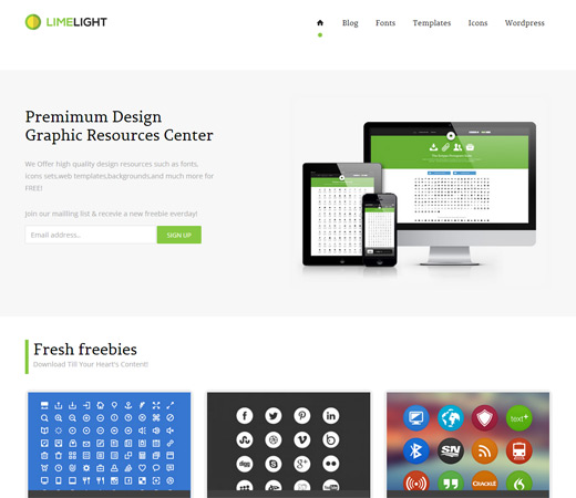 LimeLight Design Studio Responsive Template