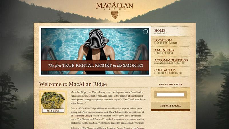 web MacAllan Ridge